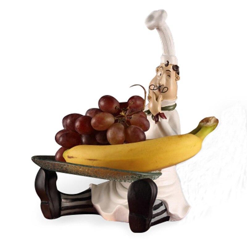 Style européen assis fruits plat résine chef ameublement mode créative maison western restaurant décorations mobilier de table