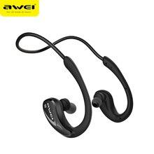 AWEI a880bl устойчивое Спортивные наушники Bluetooth Беспроводной наушники с микрофоном гарнитура Fone де ouvido шейным краниометрическая точка центра отверстия слухового прохода
