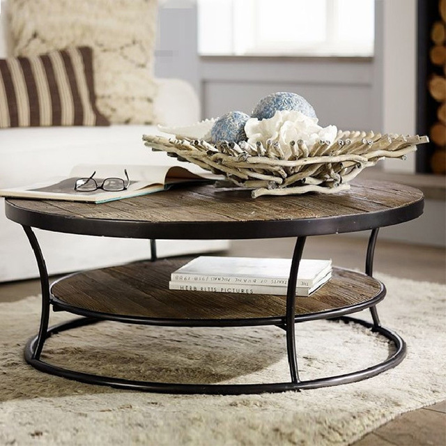 American Iron Coffee Table IKEA Short Round Tea Table To Do The Old Retro  Mash Roundtable