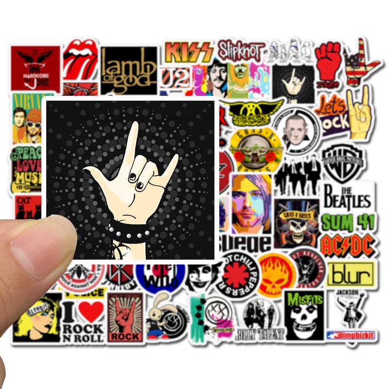 52 Buah/Bungkus Retro Rock Band Music Graffiti Stiker Hijau Yang Telah Dilarutkan Hari untuk Gitar Bagasi Skateboard Diy Tahan Air Stiker Tidak Mengulangi