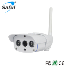 Saful  720P HD CCTV Camera IP Camera Outdoor Support 32G/64G SD Card Underwaterproof IP67 Network 1.0MP