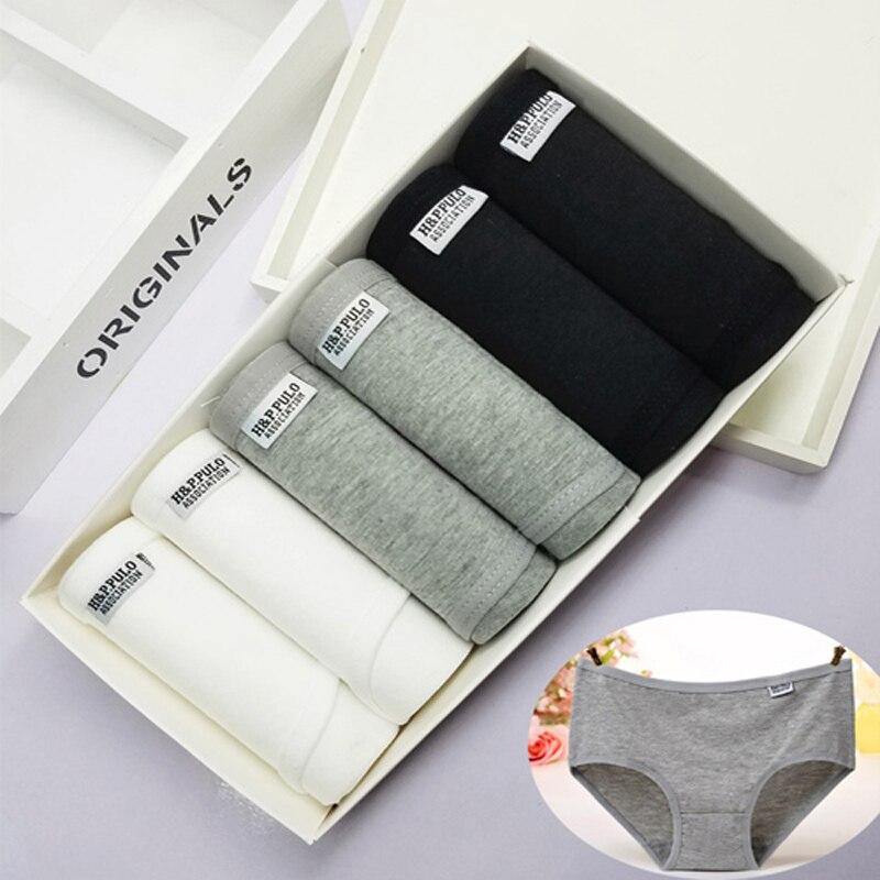 6Pcs/lot Sexy Underwear Women Cotton   Panties   Solid Briefs Plus Size Transparent Calcinhas Girls   Panty   Seamless Boxers Lingeries