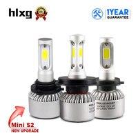 HLXG New Upgrade S2 Mini H7 LED H8 H11 H1 HB3 9005 HB4 9006 Auto Headlight