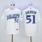 Men's Men's Arizona Diamondbacks Randy Johnson White Authentic Jersey