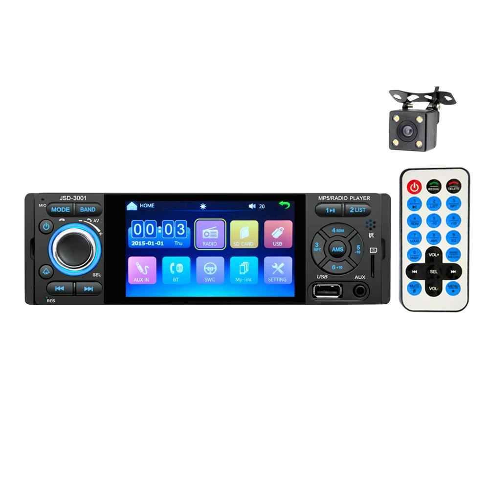 """4 """"شاشة تعمل باللمس بلوتوث راديو السيارة 1 الدين مرآة رابط Autoradio ستيريو الصوت MP5 مشغل فيديو USB MP3 TF JSD-3001"""