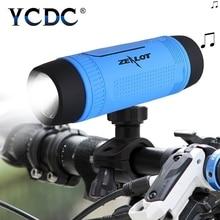 цена на YCDC Bluetooth Speaker Outdoor Bicycle Portable Subwoofer Bass wireless Speakers Power Bank+LED Flashlight +Microphone+FM Radio