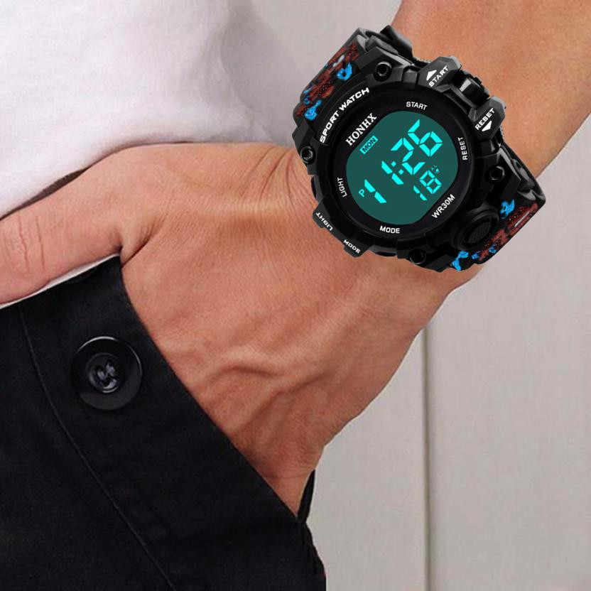 Relógio analógico digital esportivo masculino tz503, pulseira de led à prova d'água com frete grátis