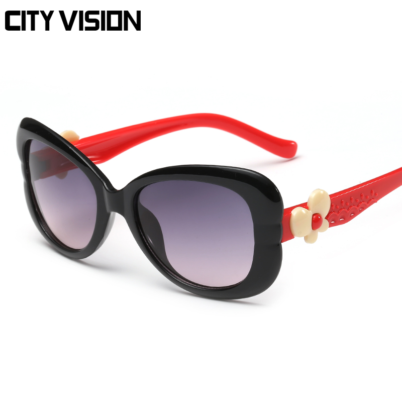 a54c38b8200 DOLCE VISION 2018 Fashion Butterfly Baby Sunglasses Children original Brand  Kids Cute UV400 Shades Coating Sun Glasses Oculos