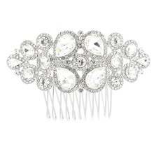 New Rhinestone Crystals Bridal Wedding Hair Combs Side Comb Hairpins Hair Jewelry Accessories GT4380