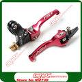 Red  Aluminum alloy ASV Clutch and Brake Folding Lever Fit Most Of Motorcycle Dirt Pit Bikes parts Free shipping