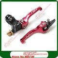 Red liga de alumínio ASV embreagem e freio alavanca dobrável caber a maioria de motocicleta sujeira Pit Bikes peças frete grátis