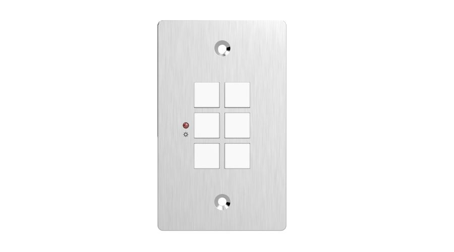 2 Connectors Lustrous ir 3 Us One-gang Wallplate Control Panel With Infrared Built-in Programmable Rs232 Connectors And