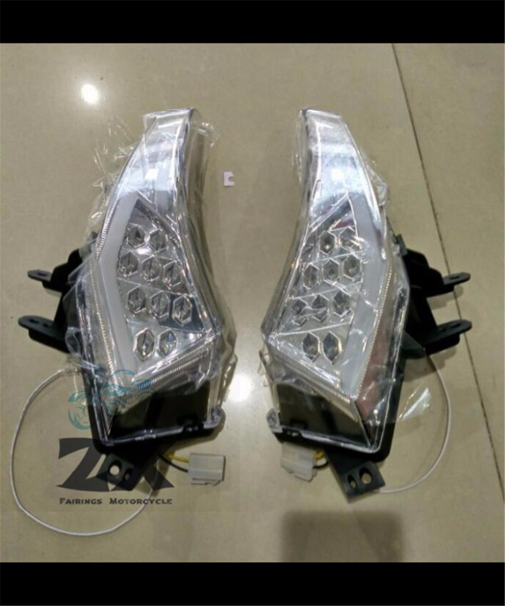 A pair Clear LED Front Turn Signals Light Rear Turn Signals Rear Right and Left For Ya maha T-MAX TMAX 530 2012-2015 tmax530 сумка ya han zl80000 2015