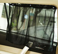 2 PCS/ Pair Universal Anti-Uv AUTO Car Sunshade Curtain Black Mesh Size S Height 45cm L Height 70cm Free Shipping