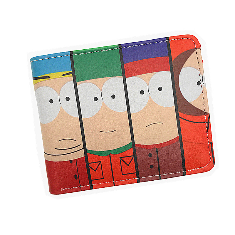 Anime Cartoon Wallet South Park Coin Purse Men Womens Wallets and Purses With Card Holder Coin Pocket japan anime katekyo hitman reborn wallet cosplay men women bifold coin purse