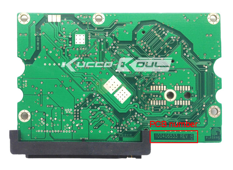 hard drive parts PCB logic board printed circuit board 100406533 for Seagate 3.5 SATA hdd data recovery hard drive repair