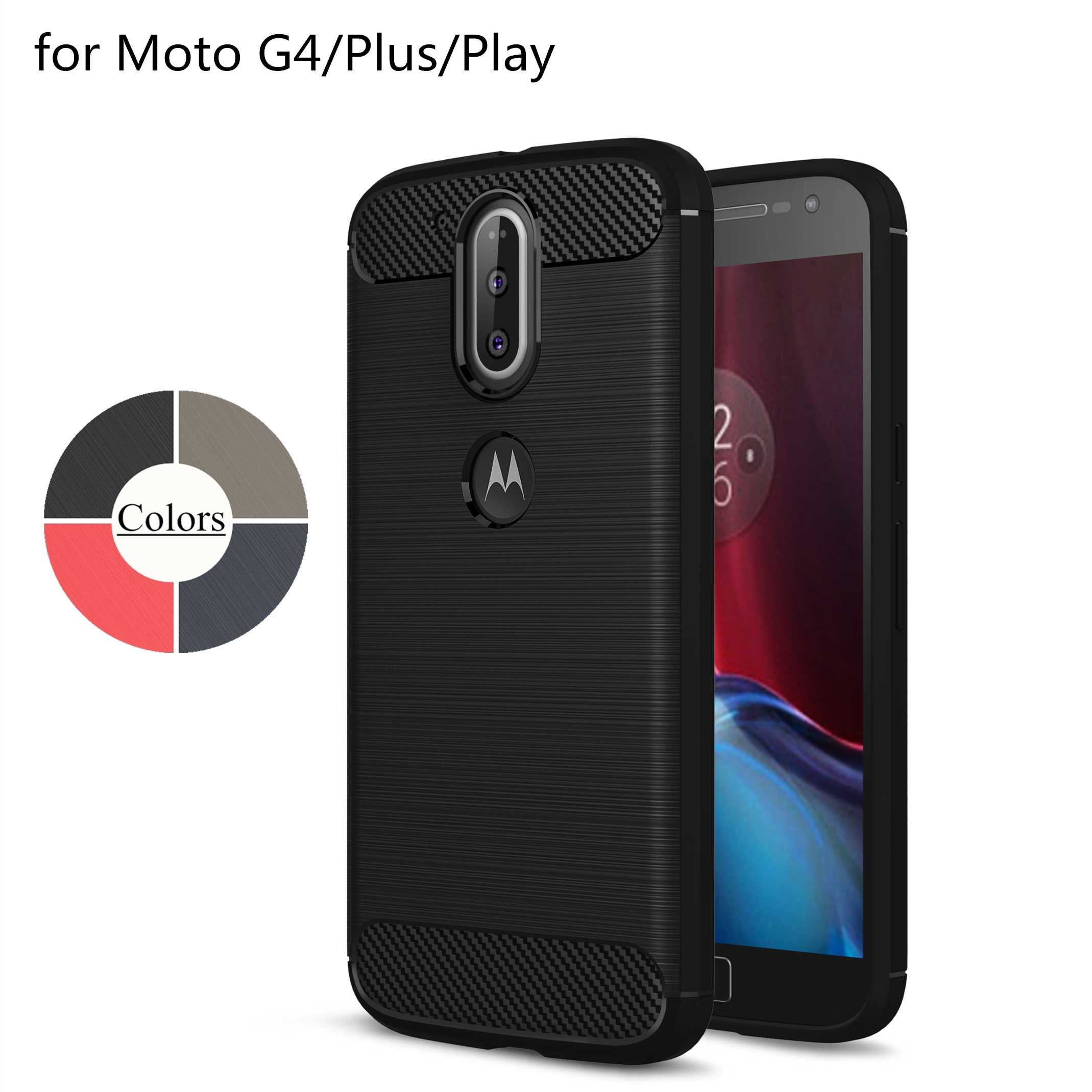Case for Motorola Moto G4 / G4 Plus / G4 Play TPU Silicone Case Ultra-thin  Soft Cover Matte Feel Phone Case Rugged Armor