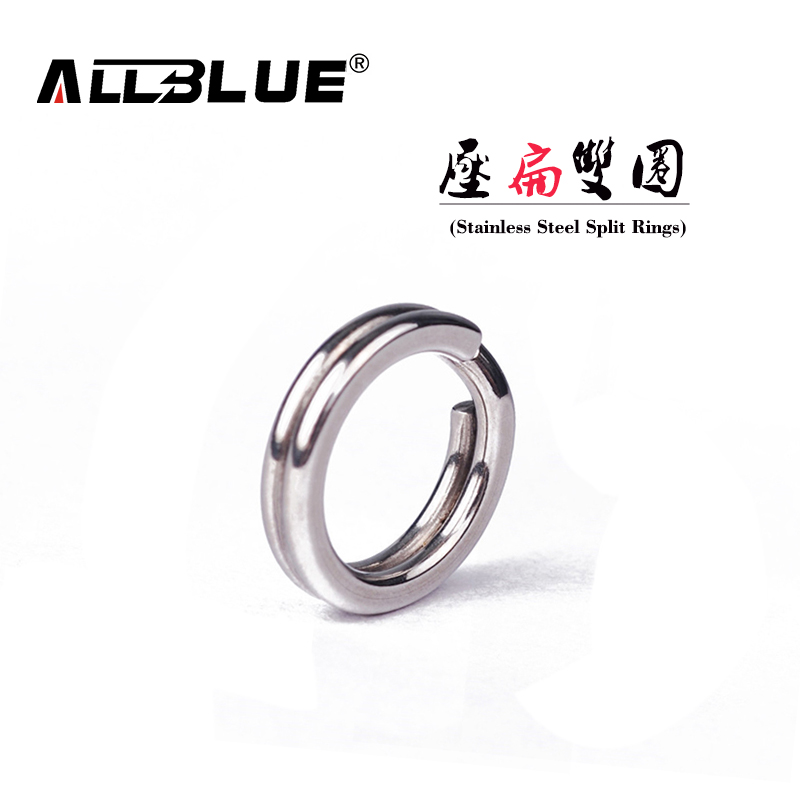 ALLBLUE 80Pcs/lot New Arrival Classic White Color Stainless Steel Split Ring Fishing Connector Fish Hooks Fishing Lures