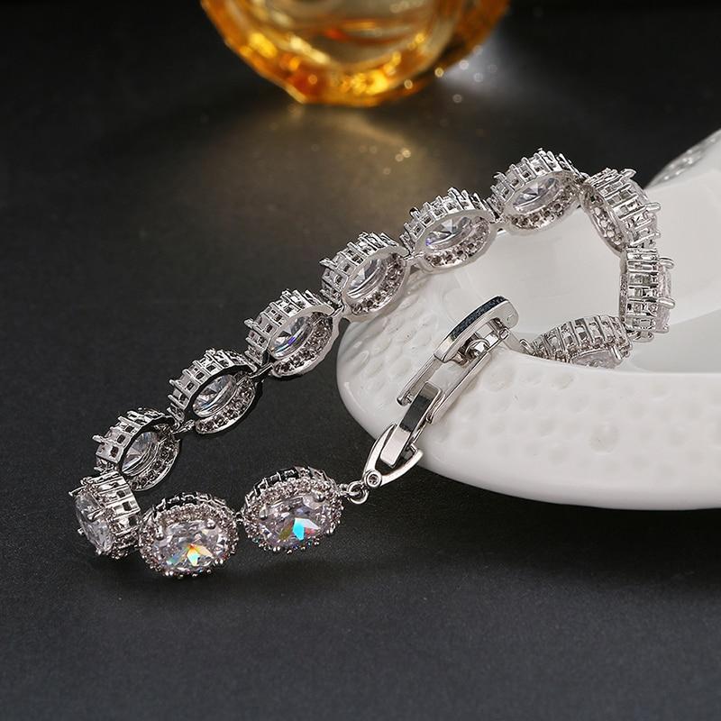 Emmaya vrhunske ovalne izvrstne cirkonove zapestnice Luksuzne - Modni nakit - Fotografija 2
