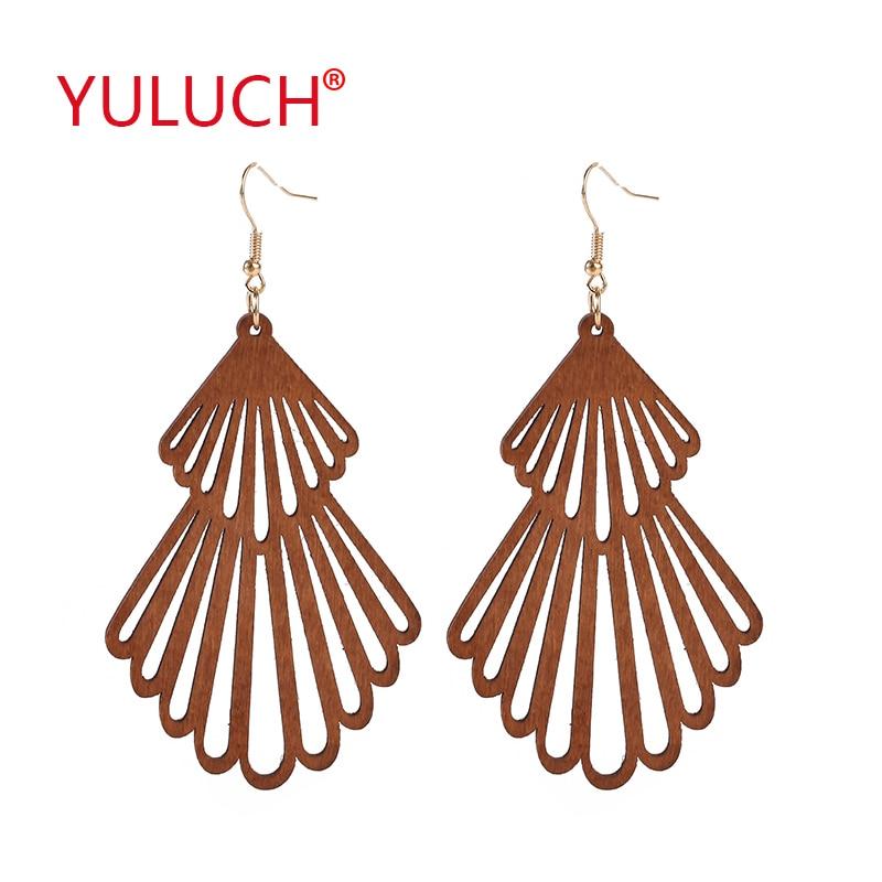Natural Wooden Pop Earrings