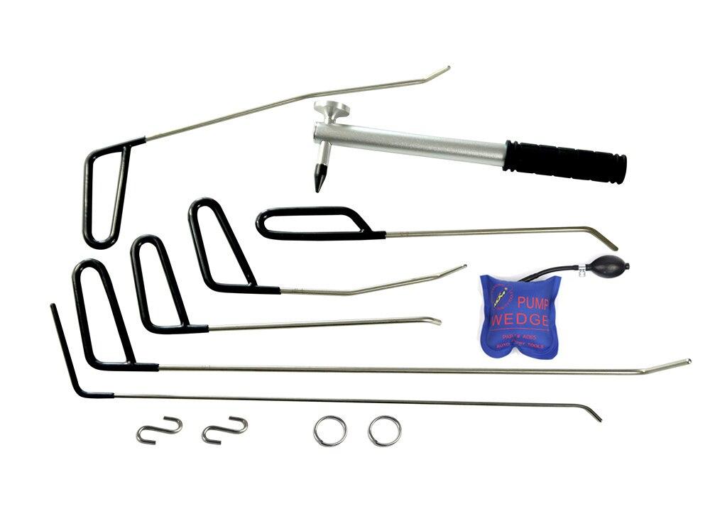 PDR стержней молния инструменты Paintless Дент Ремонт автомобилей Дент удаления PDR Tool Kit 12 шт./лот
