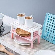 Four à micro ondes étagère pliable cuisine organisateur placard étagère de rangement réfrigérateur étagère maison porte vaisselle support en plastique