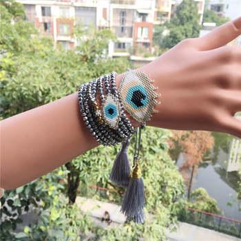 e4be382556cf Go2boho MIYUKI pulsera turco mal de ojo Pulseras del encanto del ojo  malvado pulsera Delica cuentas de joyería 2019 de cristal de mujeres  Bileklik regalo