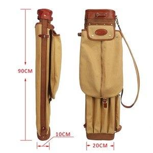 Image 4 - Tourbon vintage golf club saco portador lápis estilo lona & couro sacos de arma golfe com bolsos clubes viagem domingo sacos cobrir 90cm