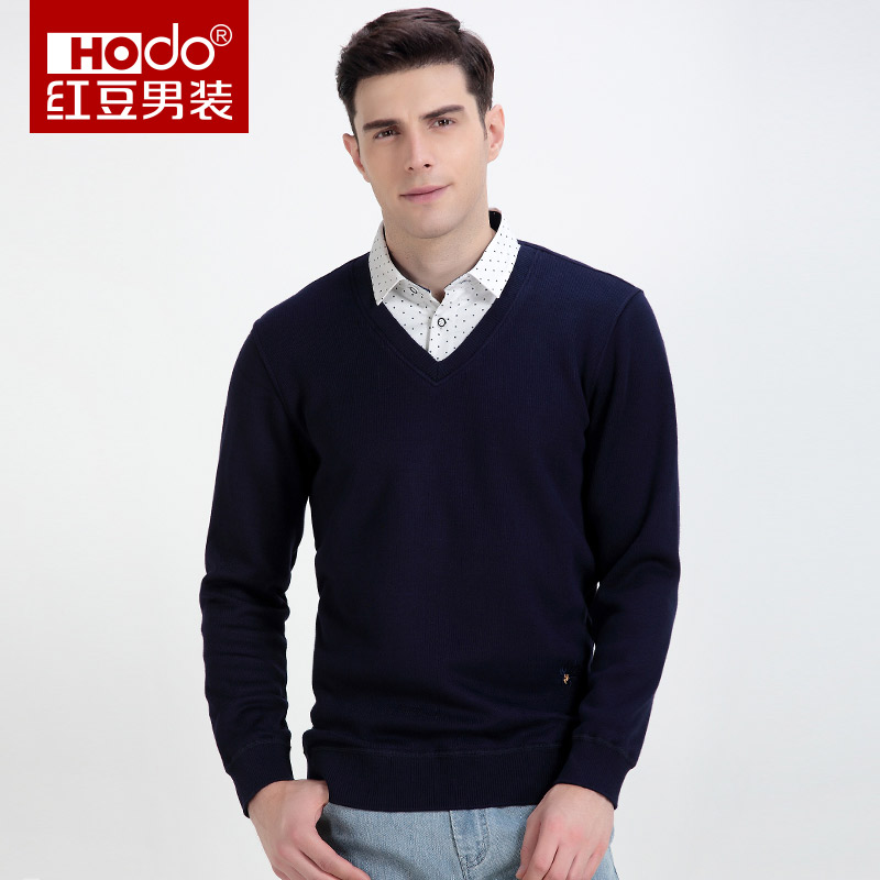 Hodo Sweater Social Shirt Korean Style Clothing Men Long Sleeve Men Clothes Cotton Shirt Men Fashion Shirts Sweter Man DMGTC689S