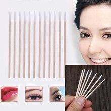 300pcs Wood Cotton Swab Cosmetics Permanent Makeup Health Medical Ear Jewelry Cl