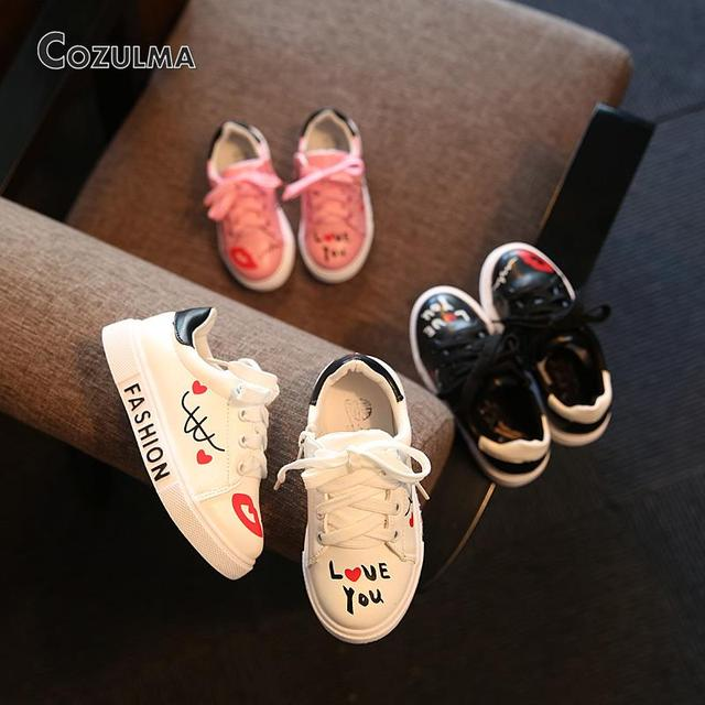 2018 Spring Child Sport Shoes Sneakers PU Leather Sneaker Boys Girls Sneakers  Kids Shoes 3