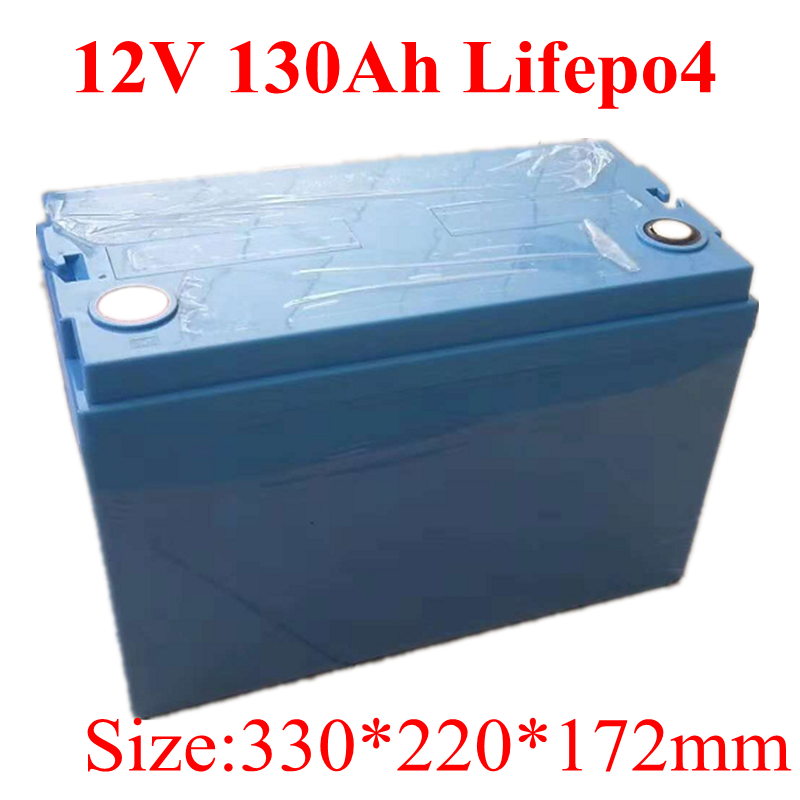 Waterproof 12V 130Ah 150Ah LiFepo4 Lithium Battery Pack with BMS for Golf Cart RV Marine Motorhome