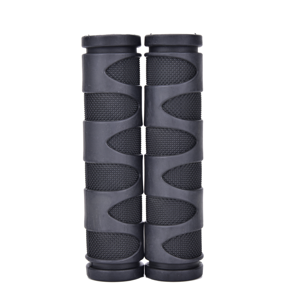 2Pcs BMX MTB Bicycle Rubber Grips Cycling Mountain Bicycle Scooter Bike Handle Bar Rubber Soft End Grip