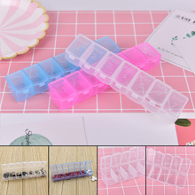 New One Week 7 Days Pill Box with Keychain Medicine Container light Drugs Capsules Holder Storage Case Organizers 1pc