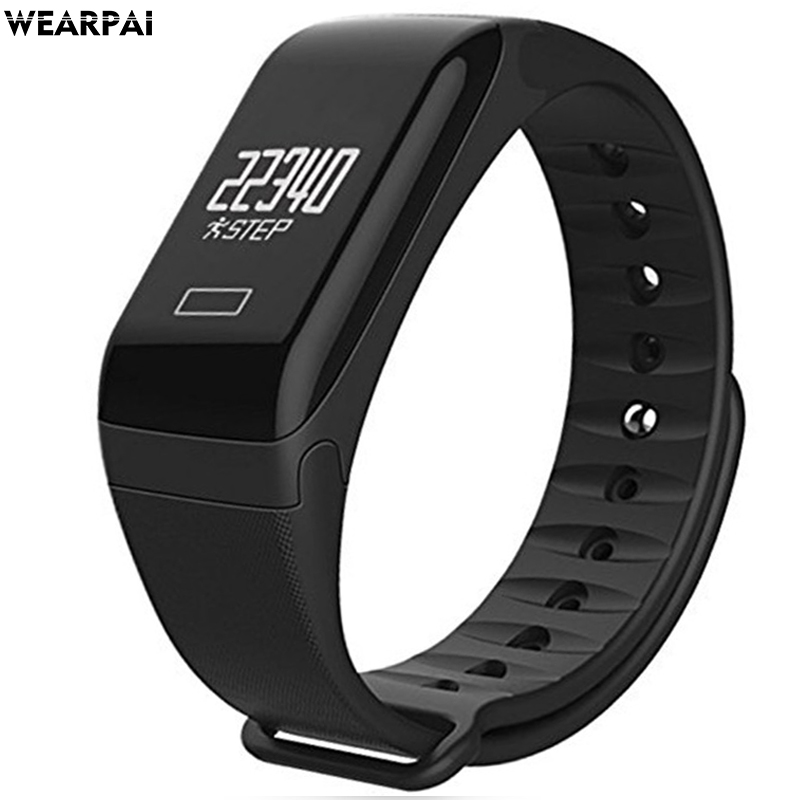 wearpai F1 Sport Health Smart bracelet Heart Rate band Fitness Tracker with blood pressure monitor цена