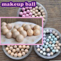 Pink Rose Golden Pressed Face Makeup Ball Blusher Sleek Pearl Soft Silky Effect 3 Choice Loose Powder Cosmetics for women