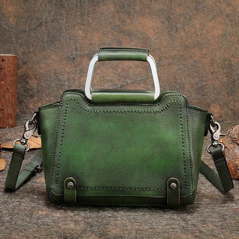 2018 New Handmade Women Handbag Genuine Leather Shoulder Crossbody Bag Cowhide Lady Top Handle Messenger Bag Ladies Purse