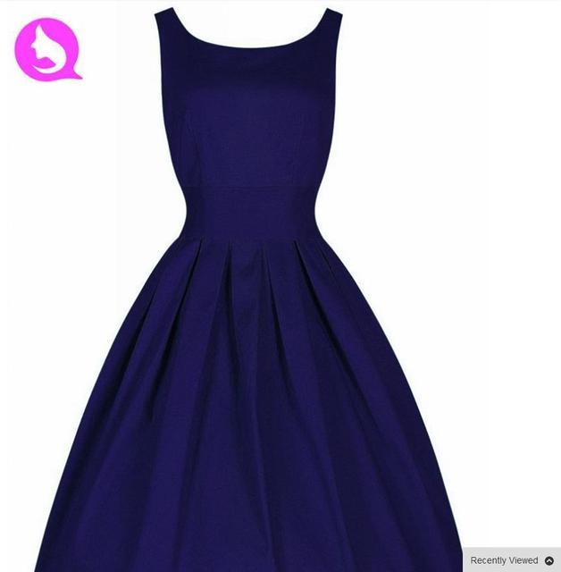US $26.0 |Summer dress vintage Rockabilly Retro Swing 50s Style Plus Size  Dresses 60s European Style Vest Dresses Women Clothing Vestido-in Dresses  ...