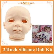 Buen Precio Niño Renacido Muñeca Kits Hecho Por El Silicón Suave de Vinilo Caliente bienvenidos Kits Reborn Baby Doll Para Bebé Para DIY Las Muñecas Juguetes