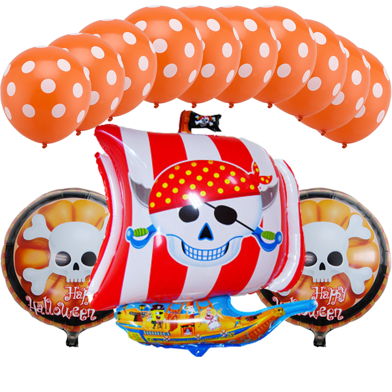 13pcs/lot Corsair foil balloons Halloween party decorations air balls inflatable