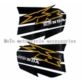 Free shipping Dirt motorcycle black applique decals fuel tank sticker Set For Honda XR250 XR400 fuel tank sticker Set