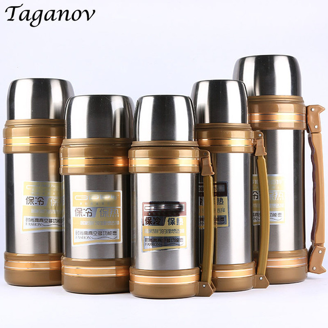 1L 1.2L 1.5L 1.8L 2L Stainless steel thermoses Vacuum flask water bottle insulated Outdoor Sports Travel Cup Car kettle thermos