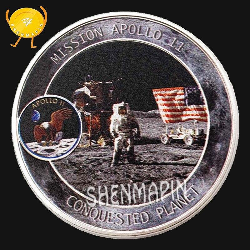 """NASA APOLLO 11 Neil Armstrong Buzz Aldrin Helmet Visor Moon 25mm 1/"""" Badge"""