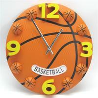 12 بوصة الإبداعية ساعة الحائط الصامت حركة كرة السلة شخصية rejor ل كيد غرفة الأطفال مثل ساعة الحائط