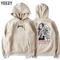 Высокое Качество Kanye West Yeezy Толстовка Мужчины Женщины Смерть Skullcandy Печати 100% Хлопок Модный Бренд Одежды Yeezy Осень Толстовка
