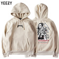 High Quality Kanye West Yeezy Hoodie Men Women Death Skullcandy Print 100%Cotton Fashion Brand Clothing Yeezy Autumn Sweatshirt