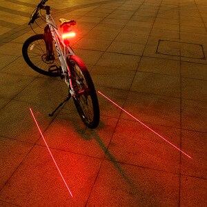 Image 2 - GIYO batterie Pack vélo lumière USB Rechargeable montage vélo lampe arrière feu arrière Led clignotants vélo lumière vélo lanterne