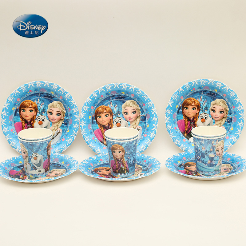 Suitable for 12 people High quality Disney Frozen Tableware Set total 117 pcs Children Birthday Party ornament Supplies -in Disposable Party Tableware from ... & Suitable for 12 people High quality Disney Frozen Tableware Set ...