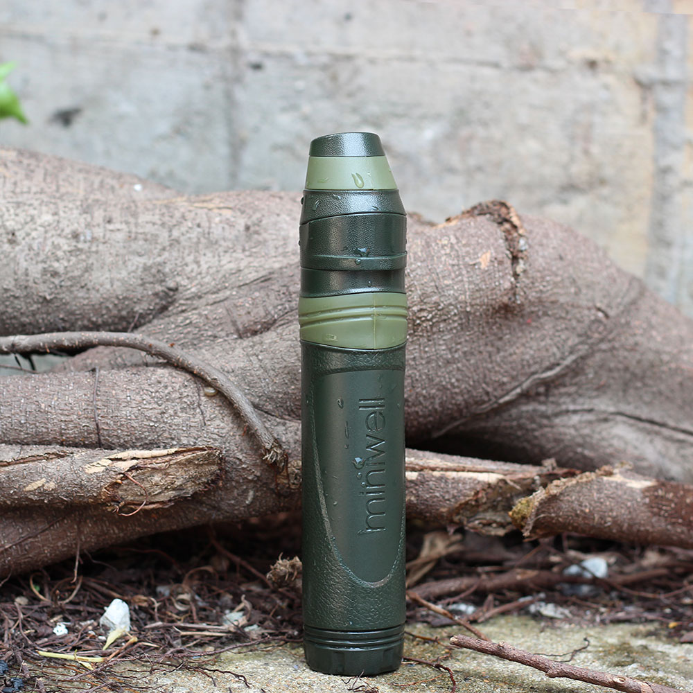 Outdoor survival kampeeruitrusting militaire mini water filter draagbare outdoor water stro filter