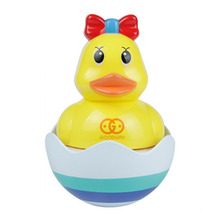 New 1pc Dual-use Amphibious Tumbler Duck Baby Bathroom Swimming Toys drop shipping